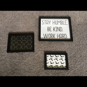 Stay humble. Be kind. Work hard. Picture frame